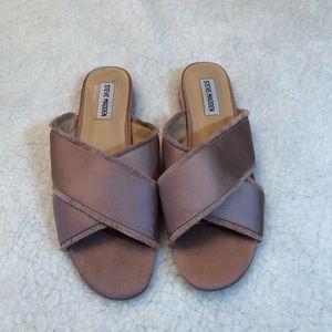 STEVE MADDEN Syruss Satin Slip On Sandals 8.5